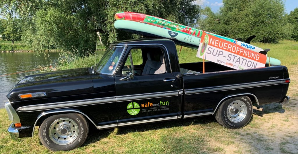 SUP-Truck-safeand.fun, Stand Up Paddeling, SUP, SUP Verleih, SUP Station, SUP Mietstation, Bootverleih, Kanuverleih, Fahrradverleih, Bike-Verleih, Kanu, Boote, Verkauf, Test, Verleih, Stand Up Paddeling Verleih, Stand Up Paddeling Vermietung, Stand Up Paddeling Station, Stand Up Paddeling Mietstation, Regensburg, Donau, Regen, Naab