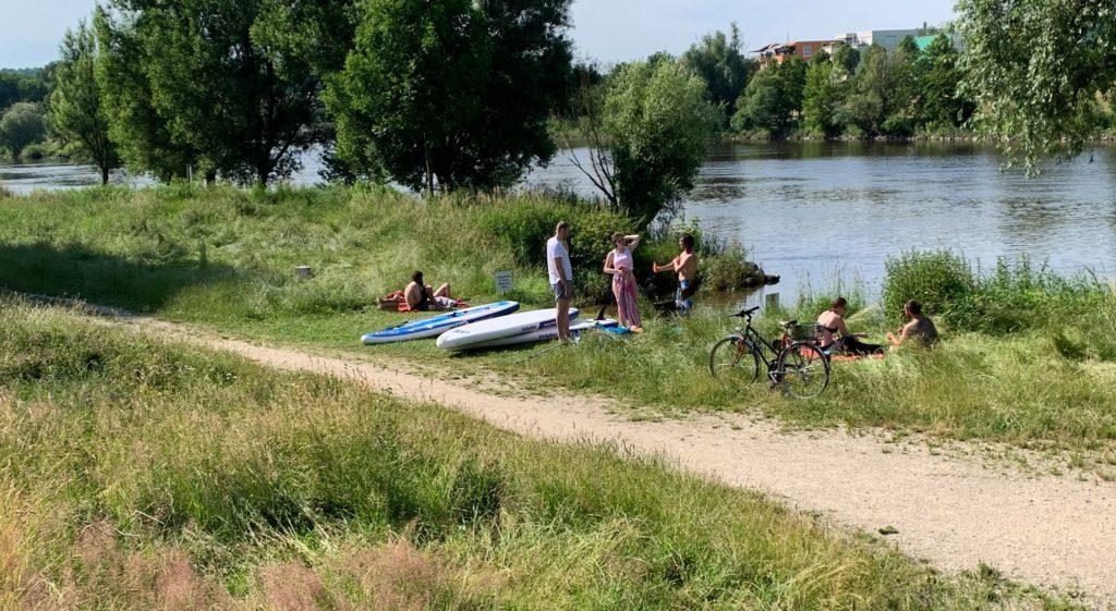Sup-Verleih-direkt an der Donau