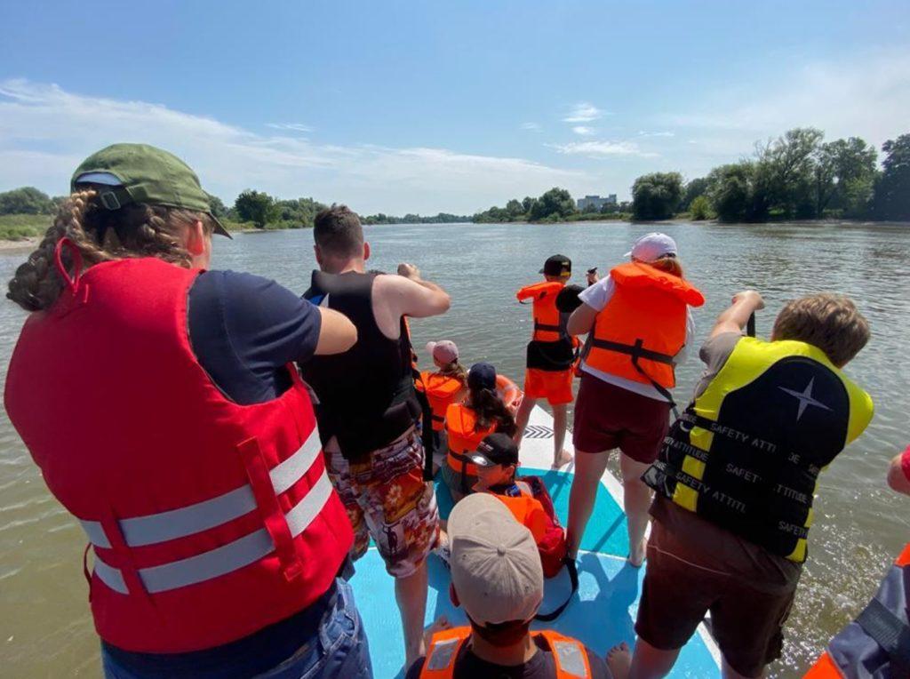 Das Ziel im Fokus, Teaming auf dem SUP auf der Donau in Regensburg