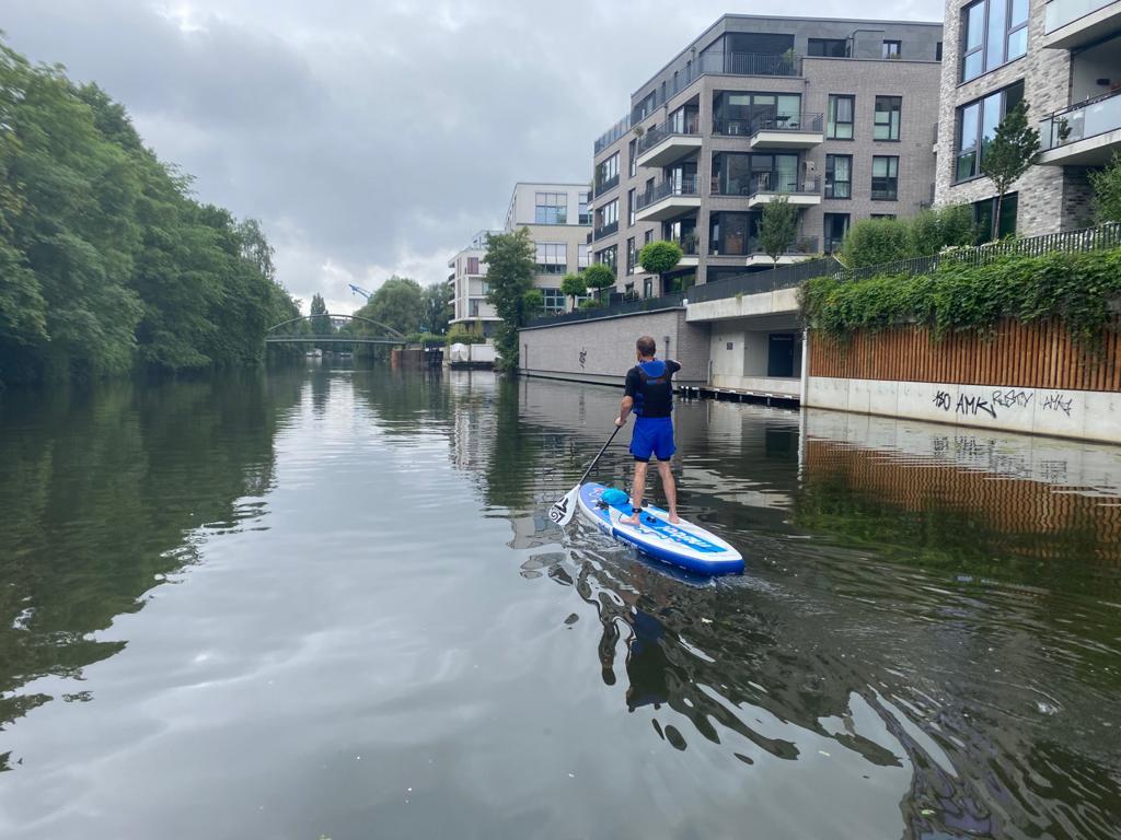 SUP-Ausflug Hamburg, die Wasserwege vor Ort