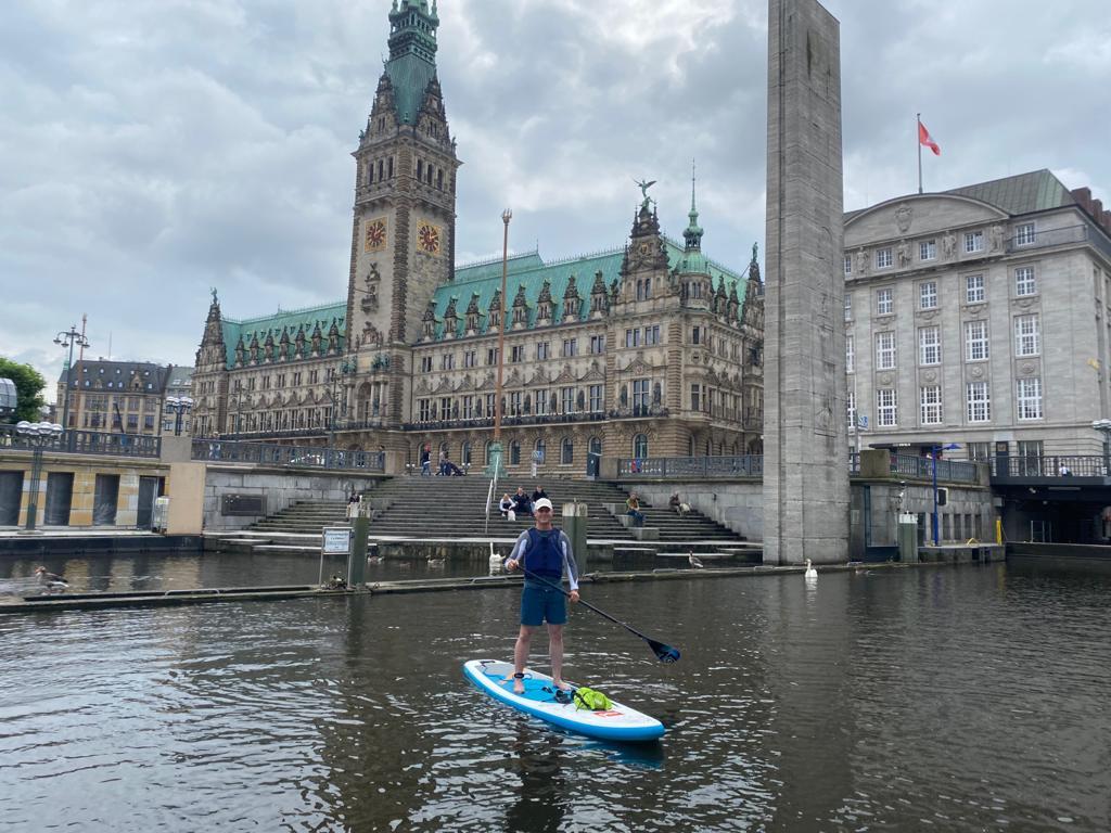 SUP-Ausflug Hamburg mit Andereas