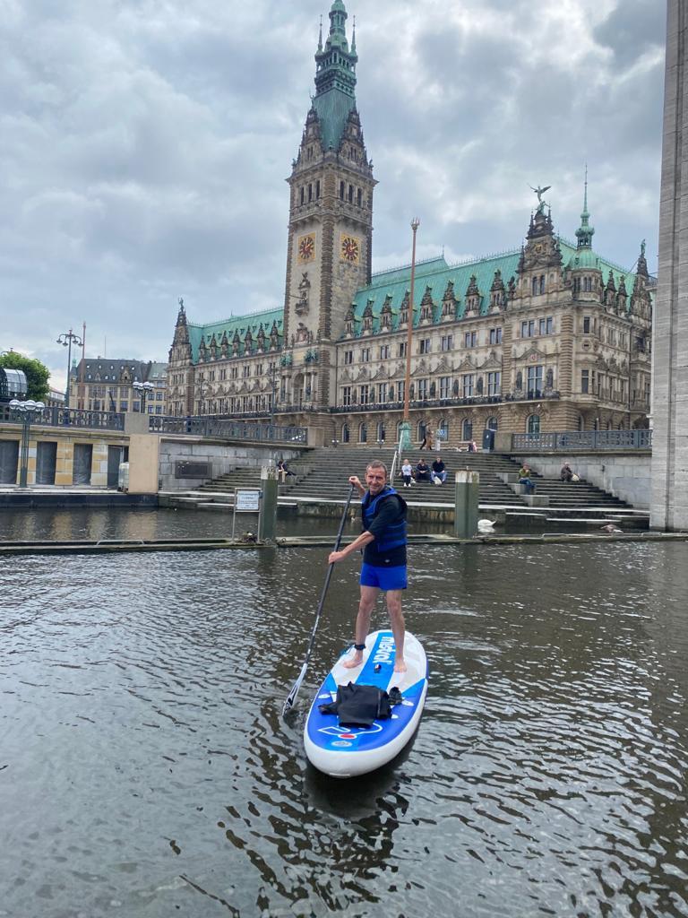SUP-Ausflug Hamburg mit Olaf
