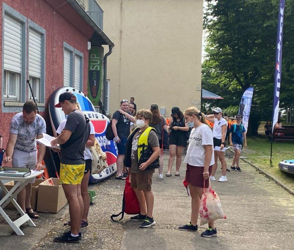 SUP-Organistion vor Ort in Regensburg