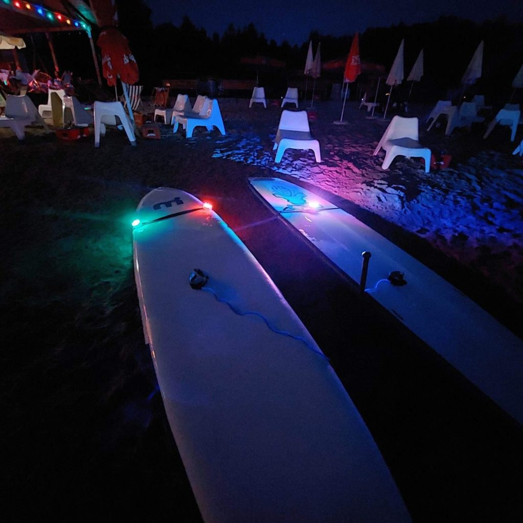 SUP-Boards mit LED-Beleuchtung, safeand.fun